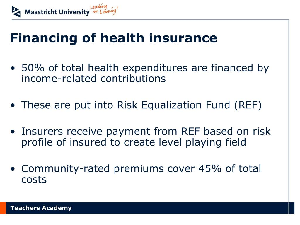 Financing of health insurance