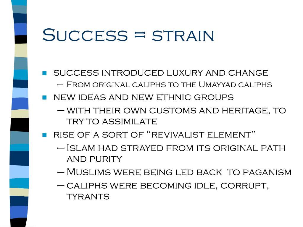 Success = strain
