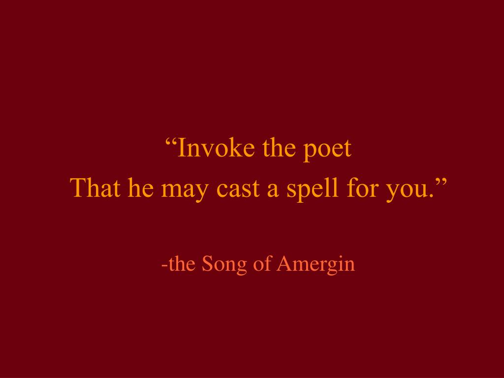 """Invoke the poet"