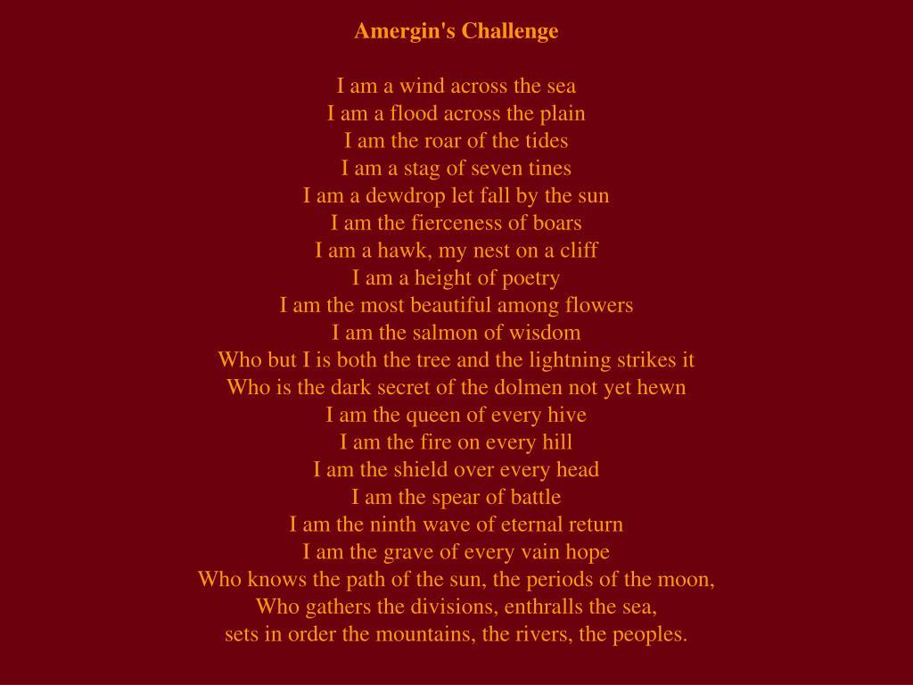 Amergin's Challenge