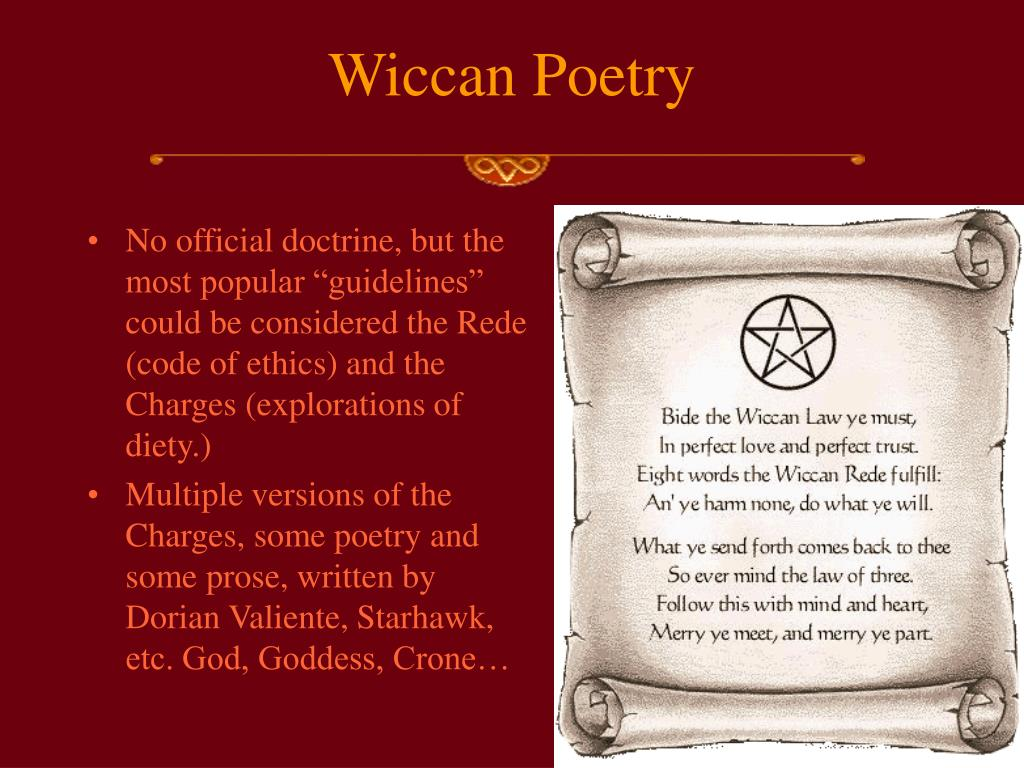 Wiccan Poetry