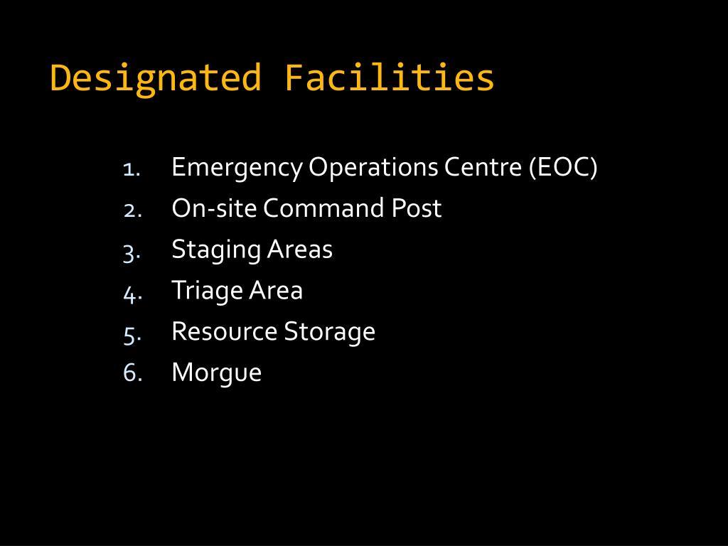 Designated Facilities