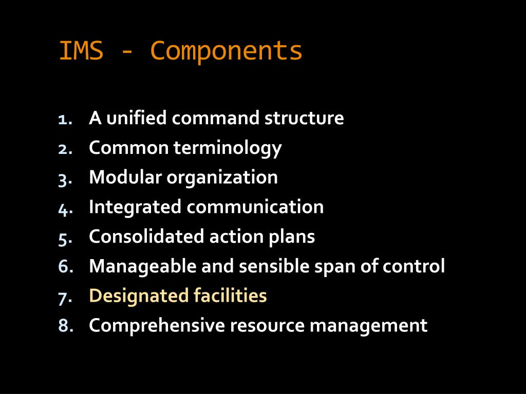 IMS - Components