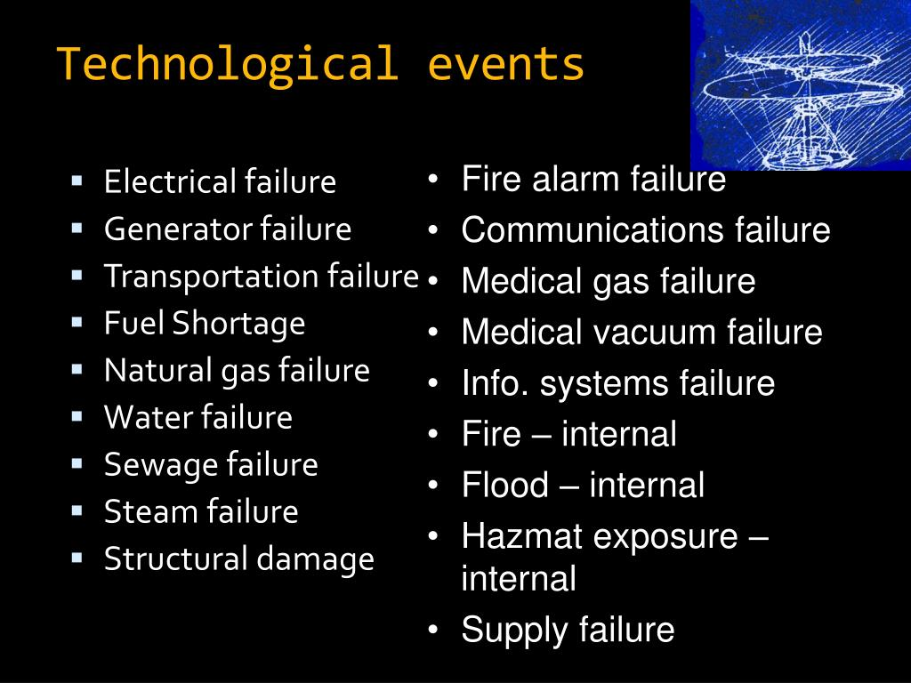 Technological events