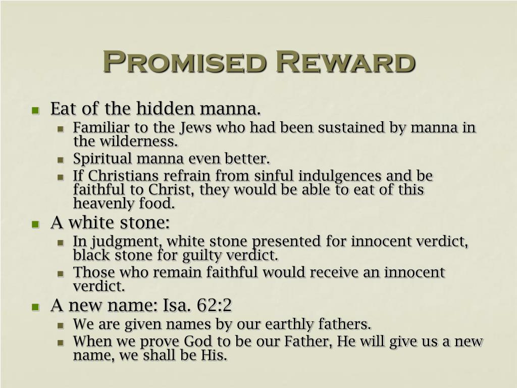 Promised Reward