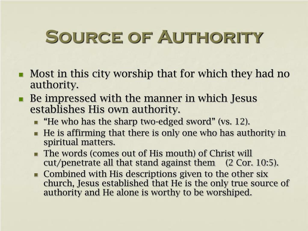 Source of Authority