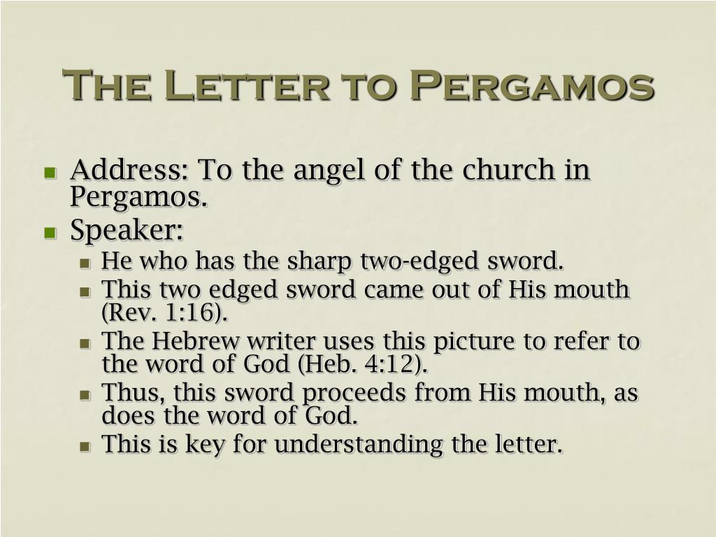 The Letter to Pergamos