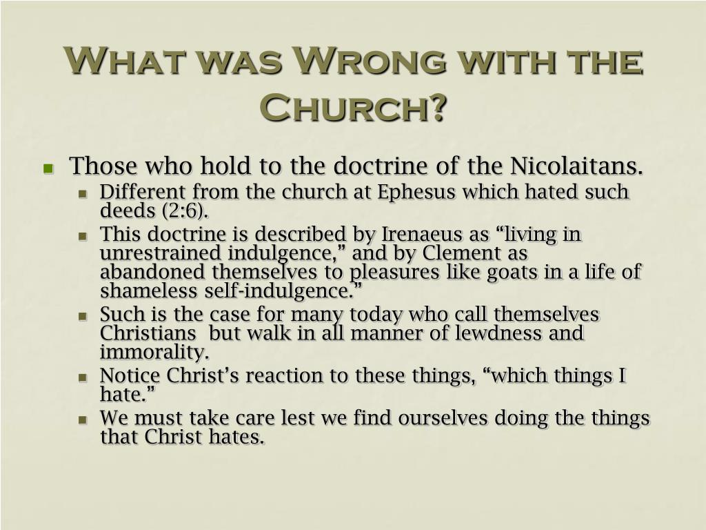 What was Wrong with the Church?