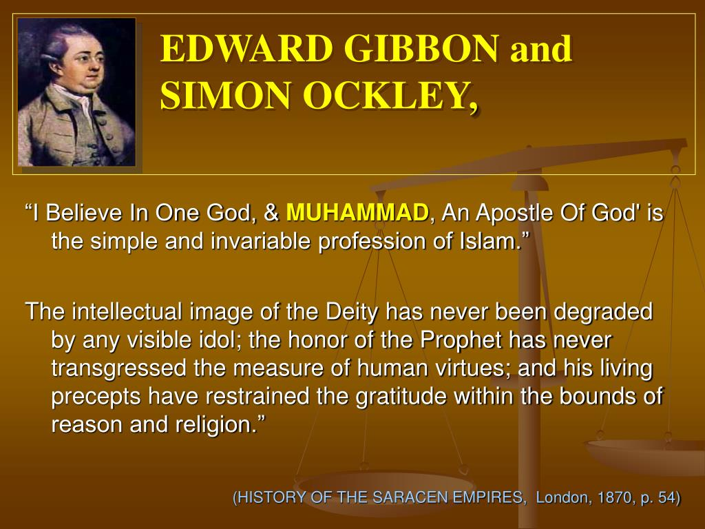 EDWARD GIBBON and SIMON OCKLEY