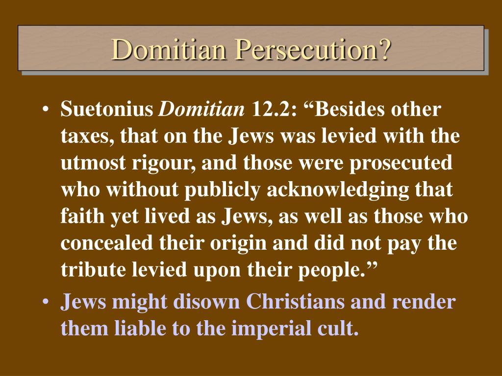 Domitian Persecution?