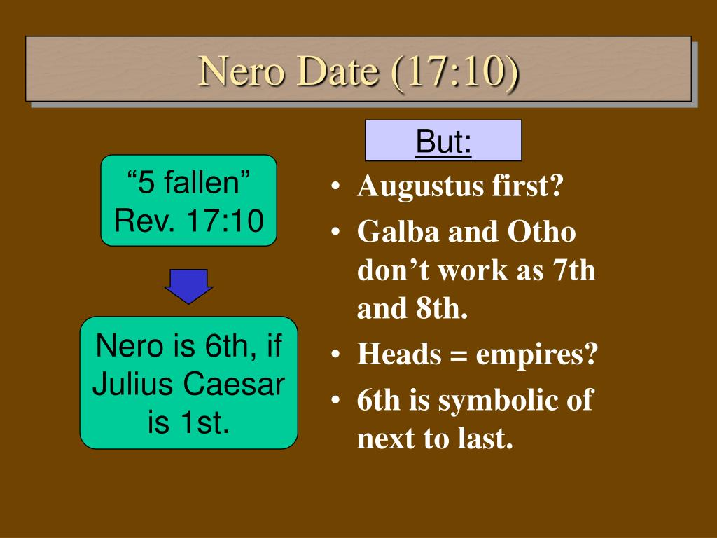 Nero is 6th, if