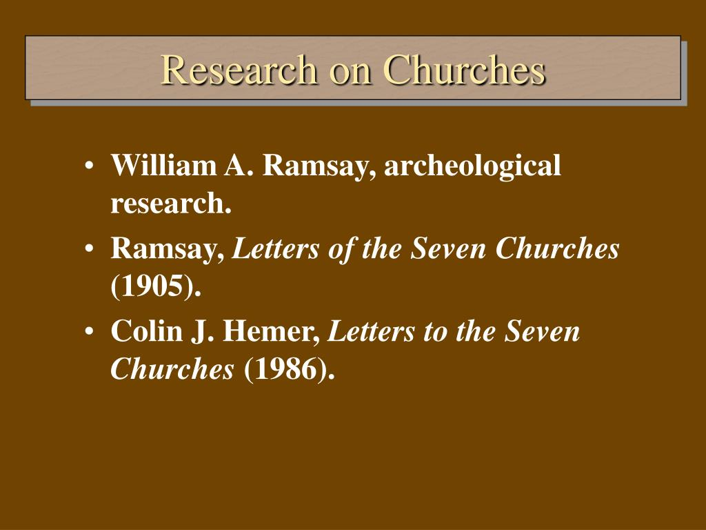 Research on Churches