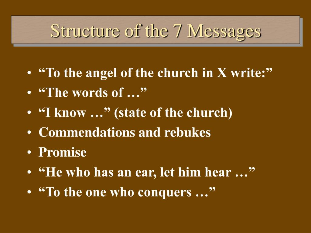 Structure of the 7 Messages