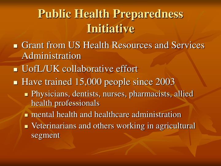 Public Health Preparedness Initiative