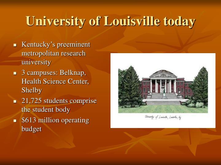 University of Louisville today