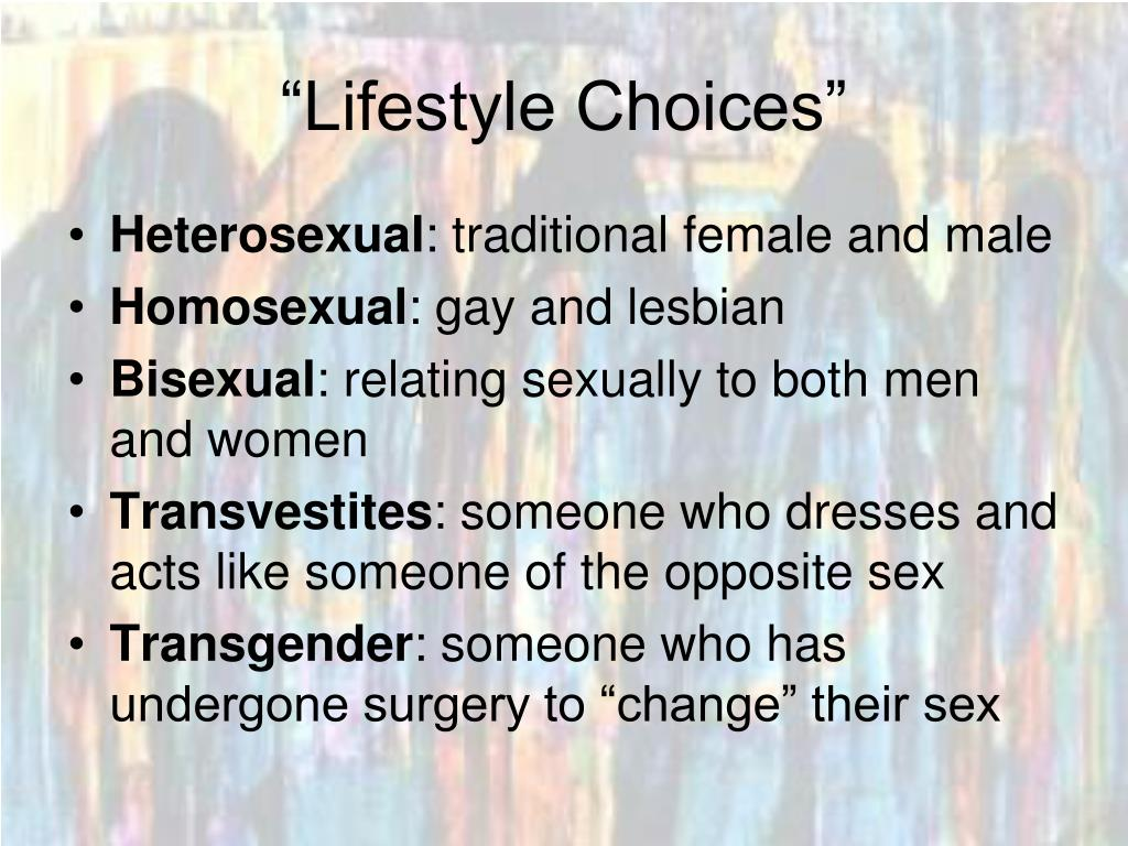 """Lifestyle Choices"""