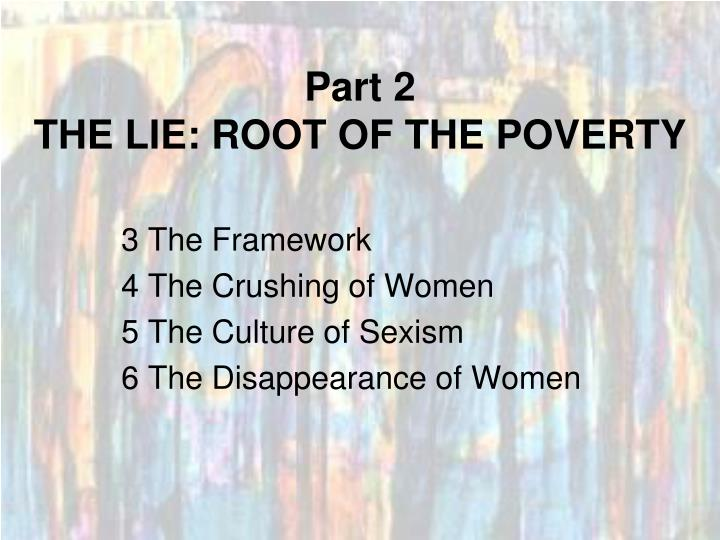 Part 2 the lie root of the poverty