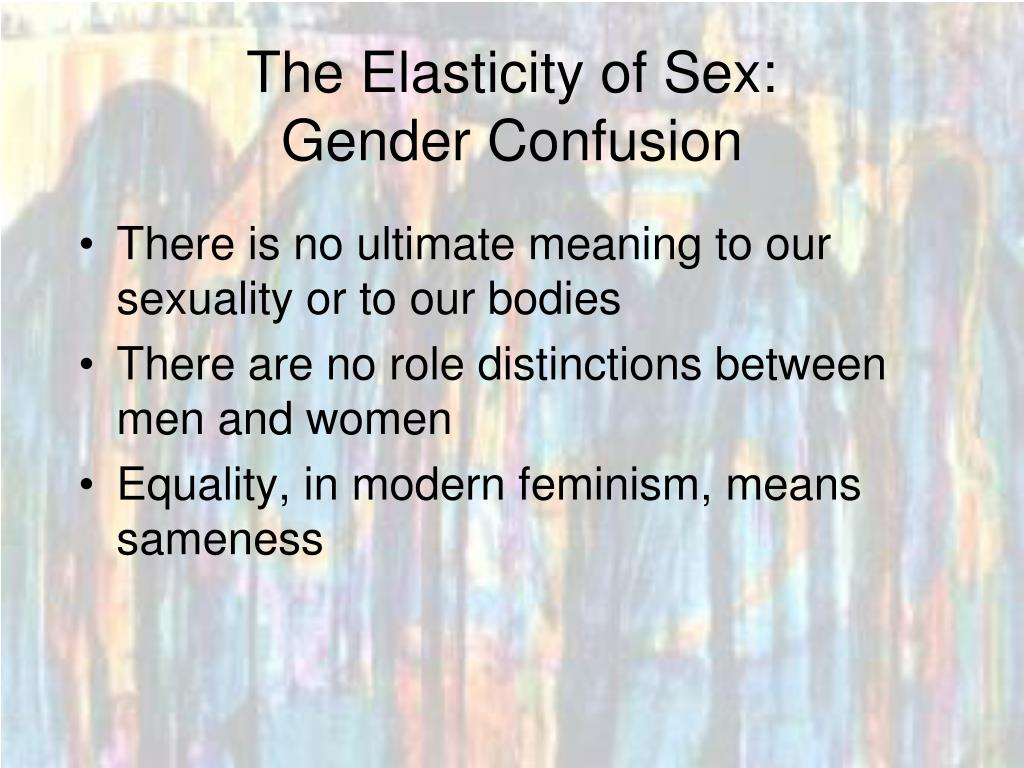 The Elasticity of Sex: