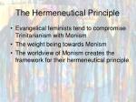 the hermeneutical principle