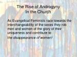the rise of androgyny in the church