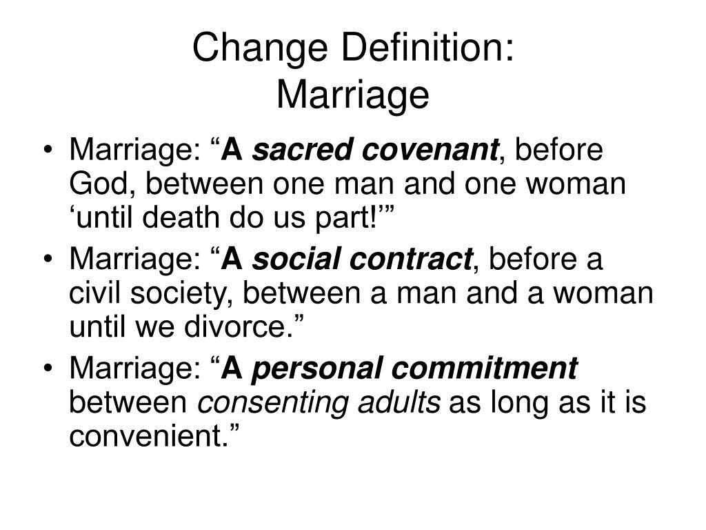 Change Definition: