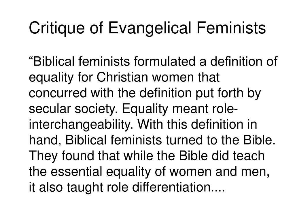 Critique of Evangelical Feminists