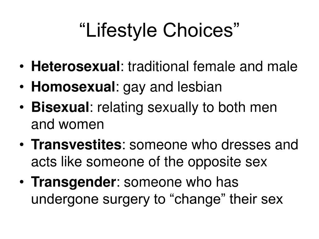 """Lifestyle Choices"""