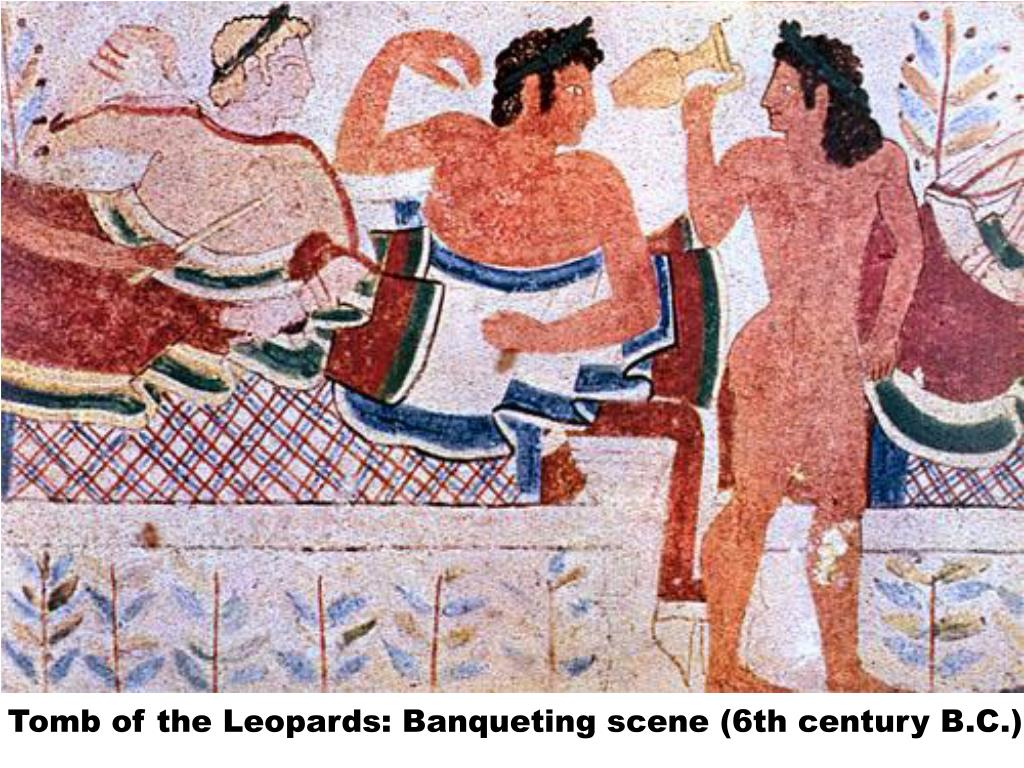 Tomb of the Leopards: Banqueting scene (6th century B.C.)