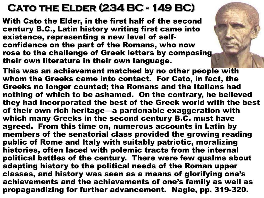 Cato the Elder (234 BC - 149 BC)