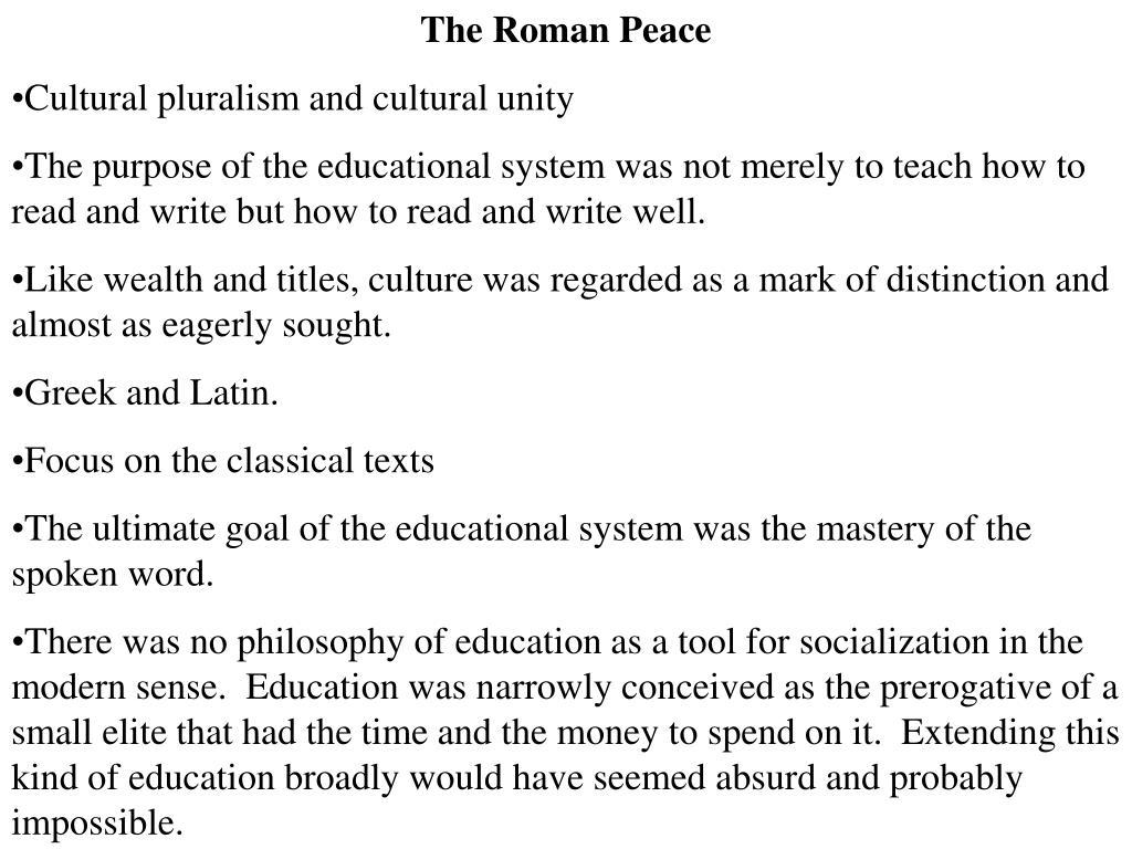 The Roman Peace