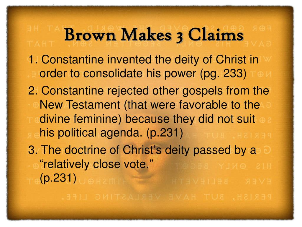 Brown Makes 3 Claims