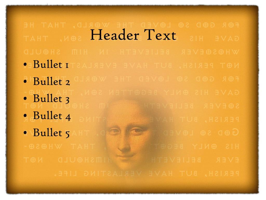 Header Text