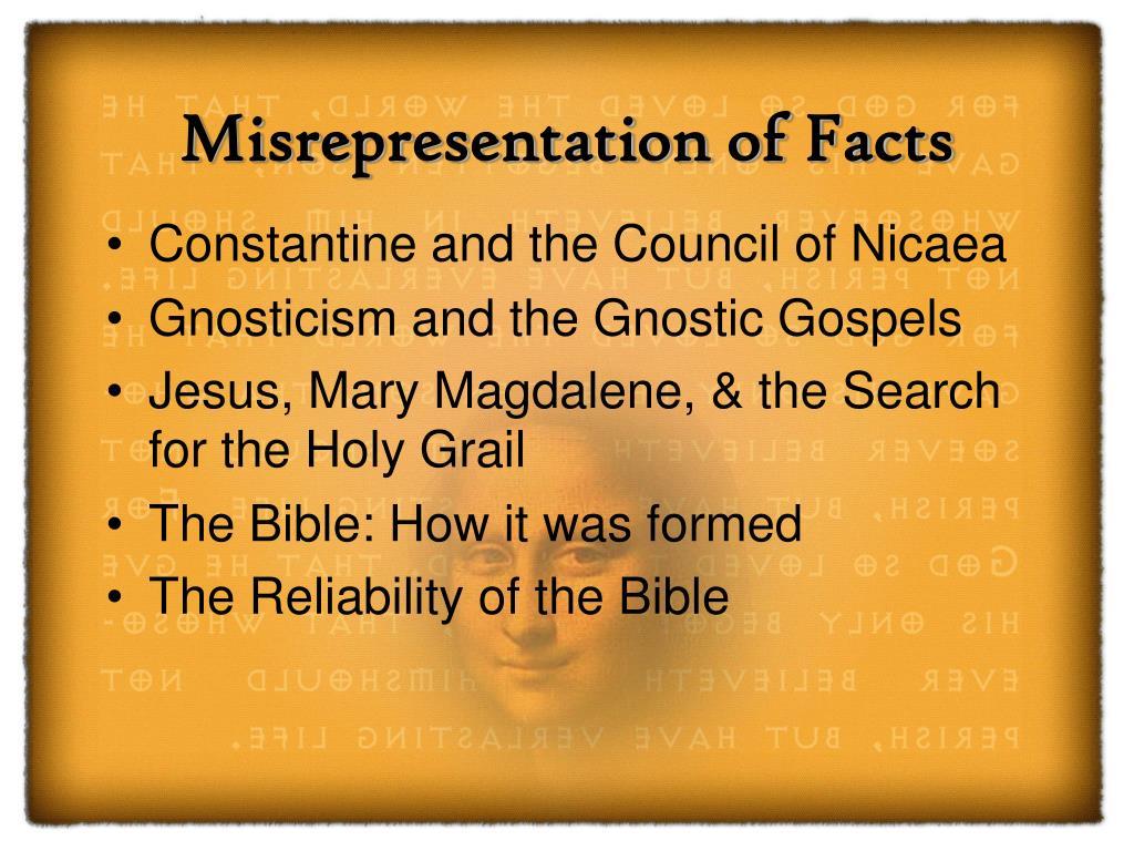 Misrepresentation of Facts