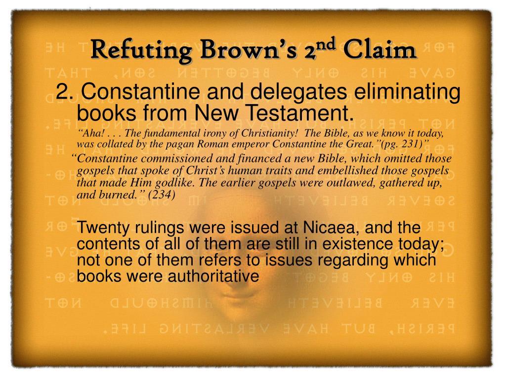Refuting Brown's 2