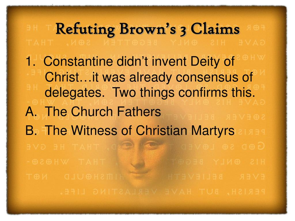 Refuting Brown's 3 Claims