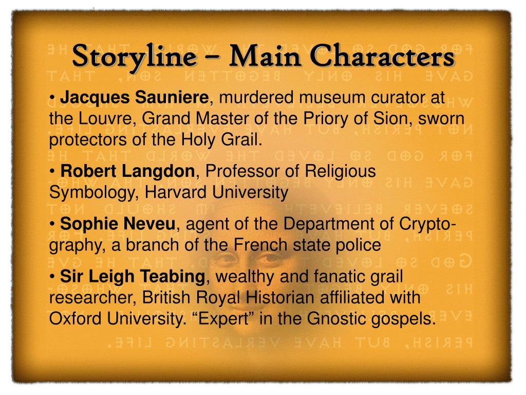 Storyline – Main Characters