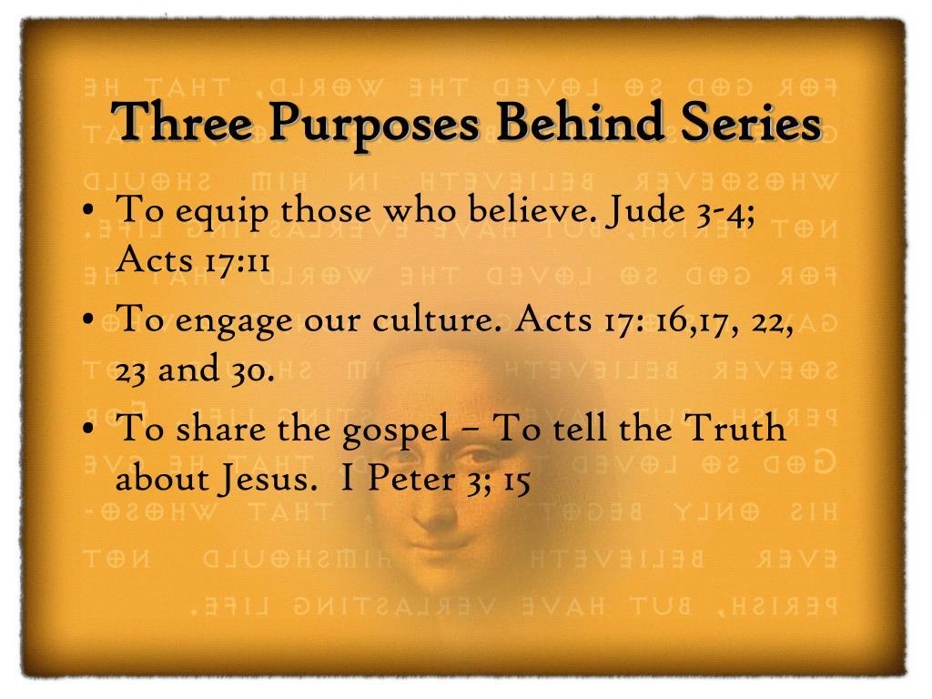 Three Purposes Behind Series