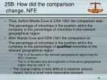 25b how did the comparison change nfe
