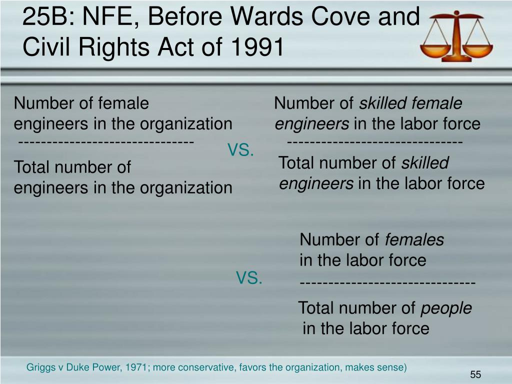 25B: NFE, Before Wards Cove and Civil Rights Act of 1991