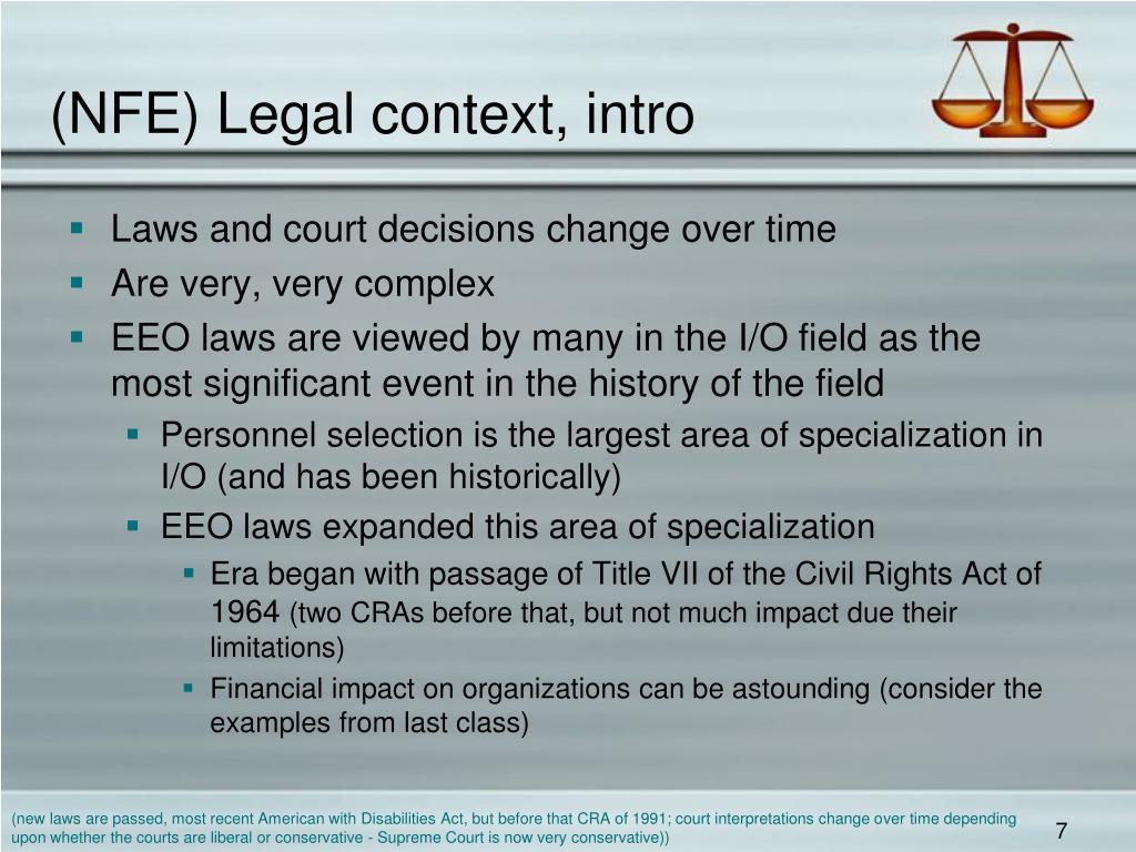 (NFE) Legal context, intro