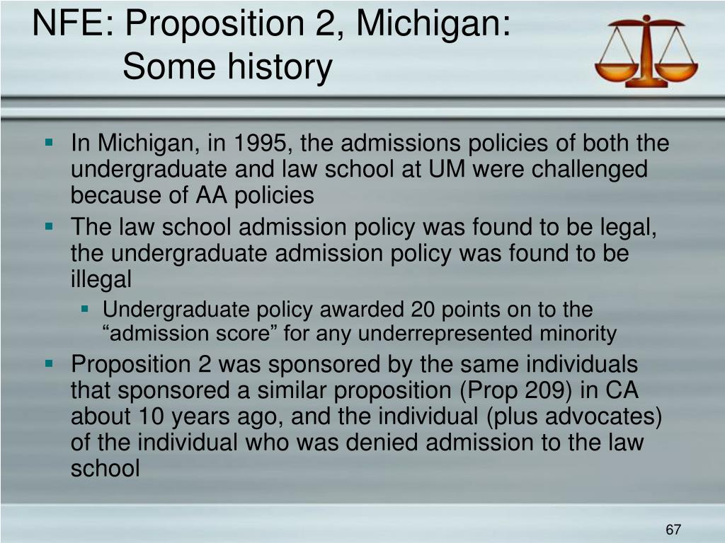 NFE: Proposition 2, Michigan: