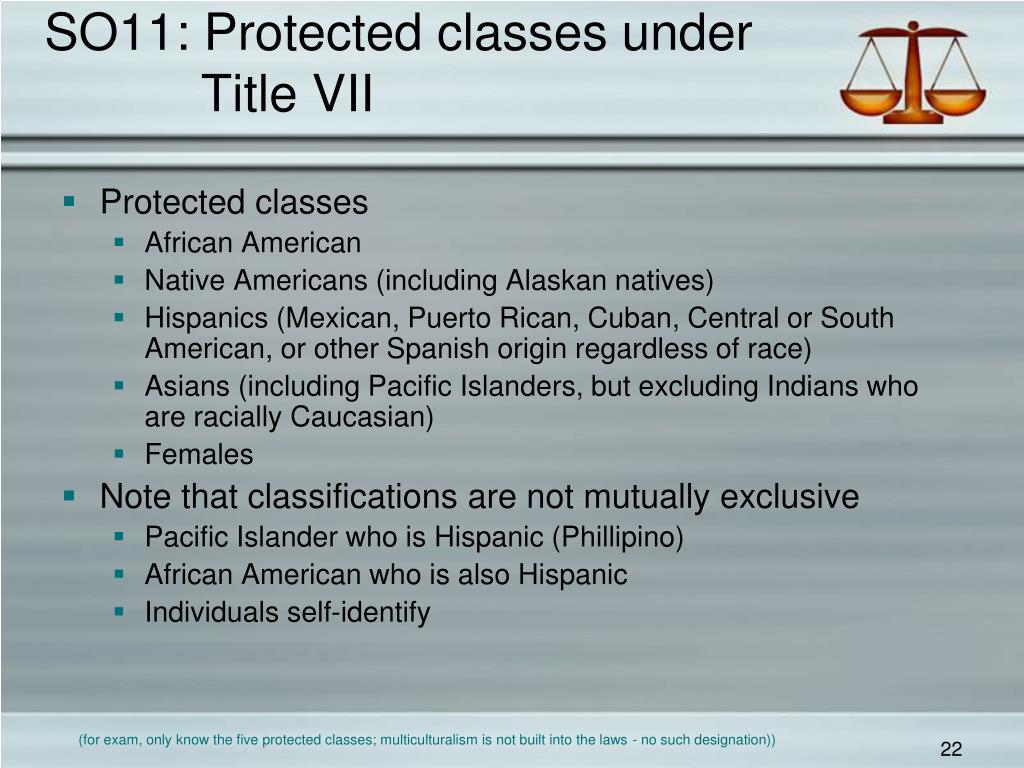 SO11: Protected classes under