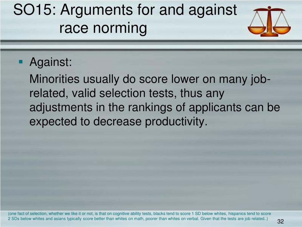 SO15: Arguments for and against