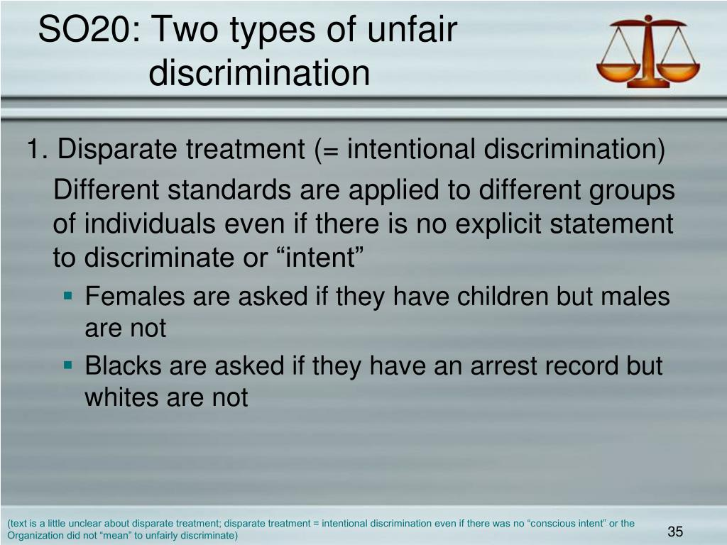 SO20: Two types of unfair