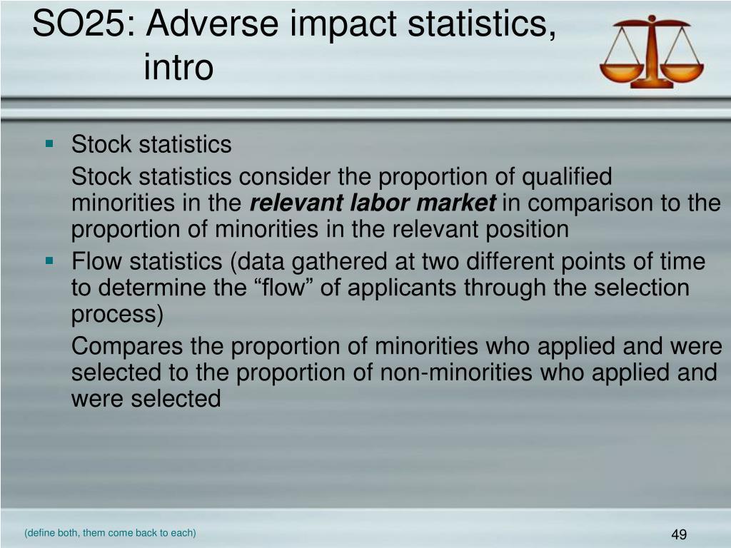 SO25: Adverse impact statistics,