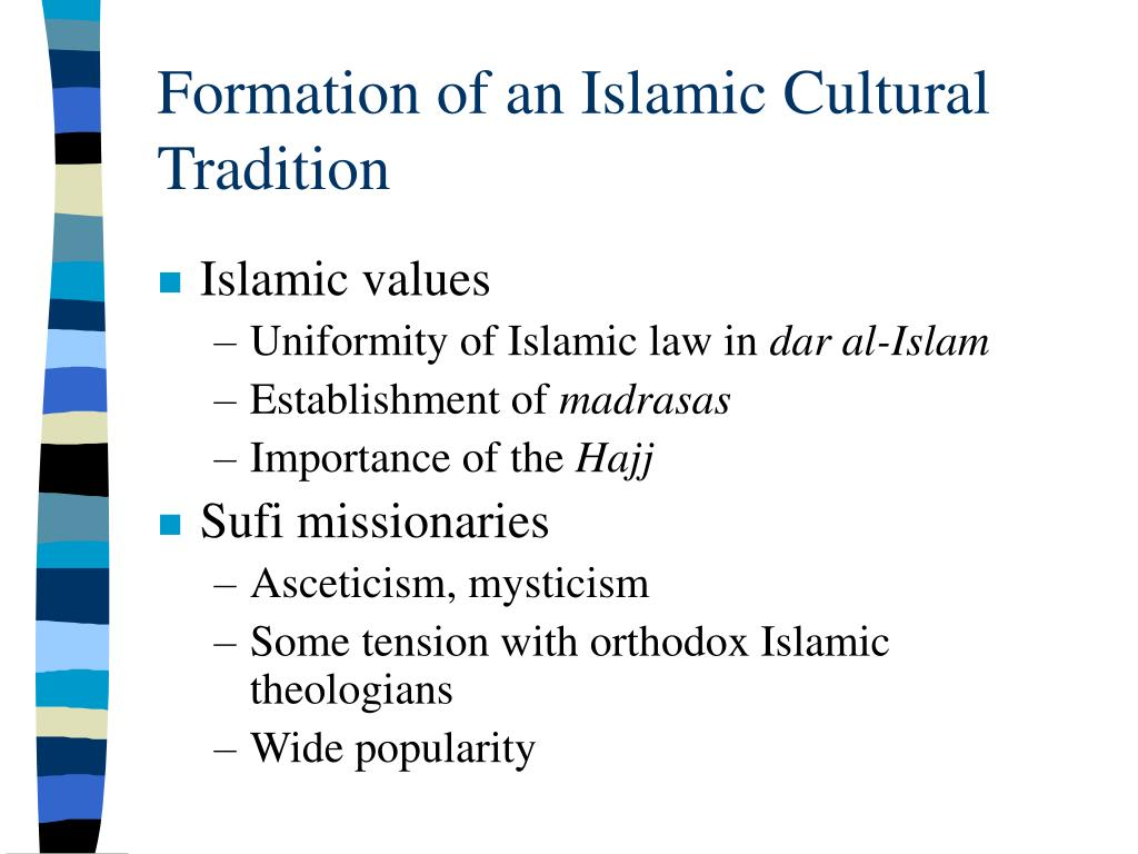 Formation of an Islamic Cultural Tradition