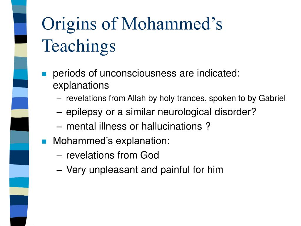 Origins of Mohammed's Teachings