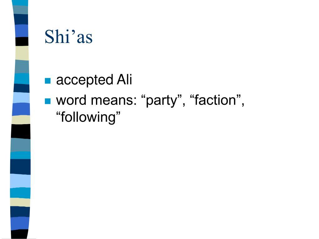 Shi'as