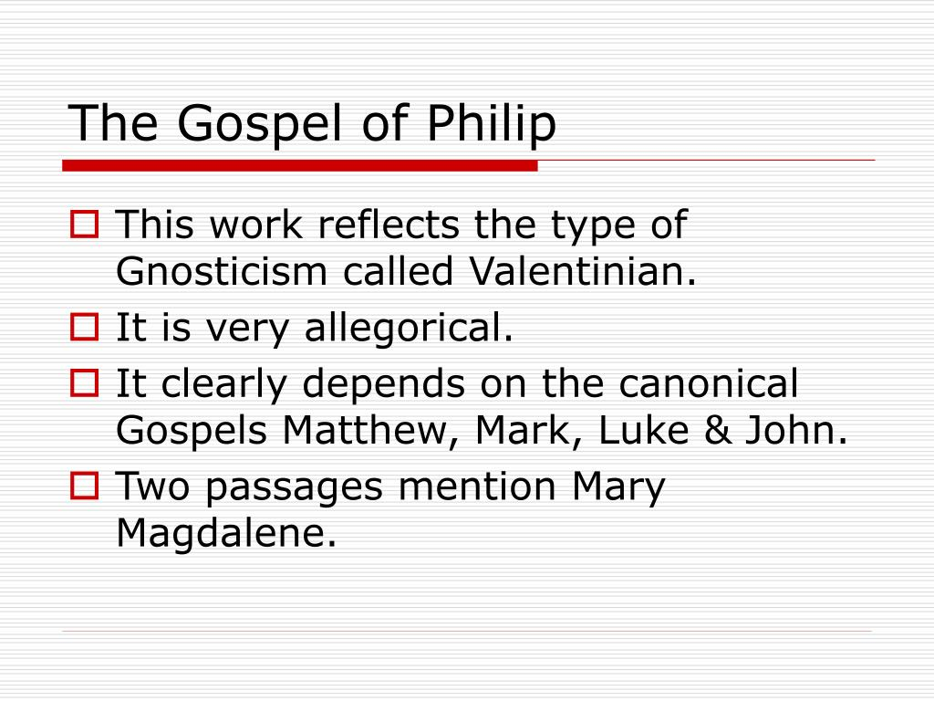 The Gospel of Philip