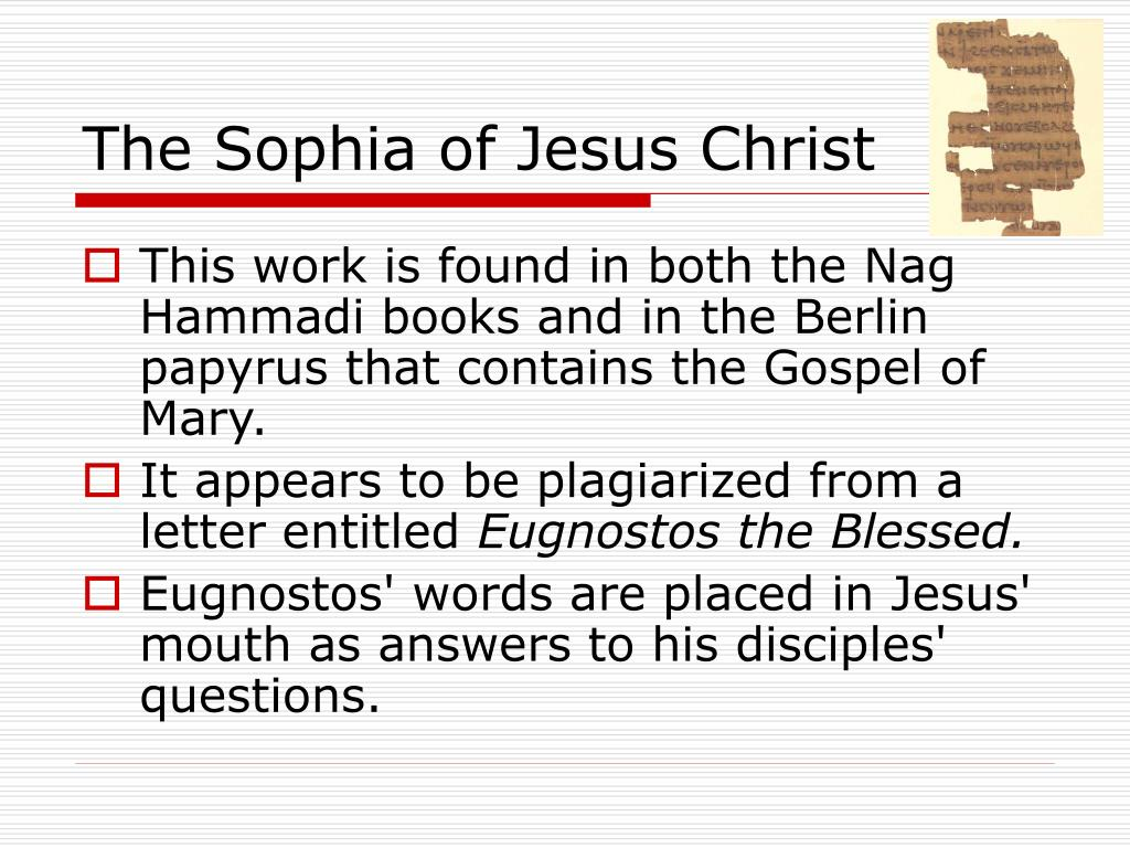 The Sophia of Jesus Christ